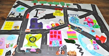 Paper Craft Road Map Things To Make And Do Crafts And - Map making for kids