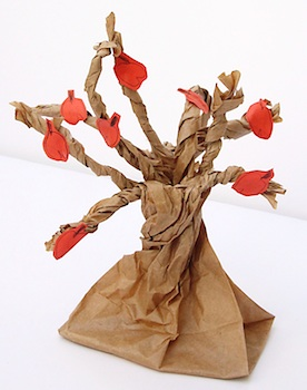 Creative Jewish Mom paper bag apple tree