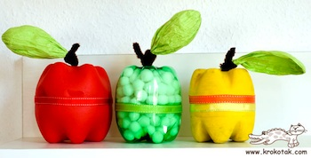 Recycled Plastic Bottle Apples