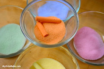 make colored salt with chalk