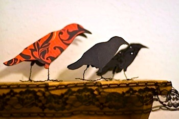 Cheeky Magpie paper crows