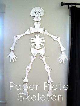 Pickup Some Creativity paper plate skeleton