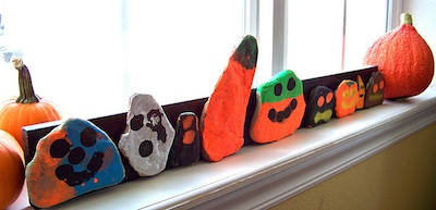 Candice Ashment Art halloween painted rocks