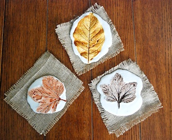 That Artist Woman plaster leaf prints