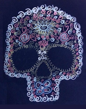 Art Projects For Kds day of the dead skull pattern