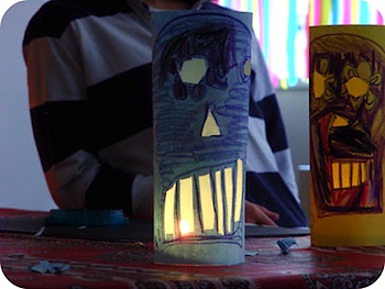 Julie Adore Dimanche day of the dead skull lanterns