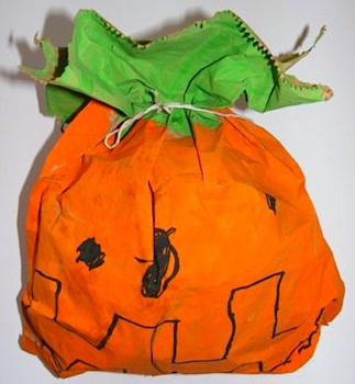 Activity Village stuffed paper pumpkin craft