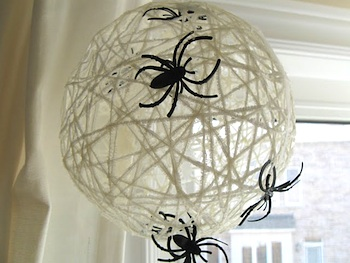 Craftberry Bush spider web balls