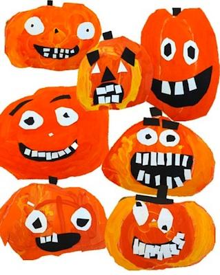 Deep Space Sparkle pumpkin face paper craft