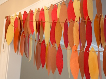 Chasing Fireflies turkey feather garland