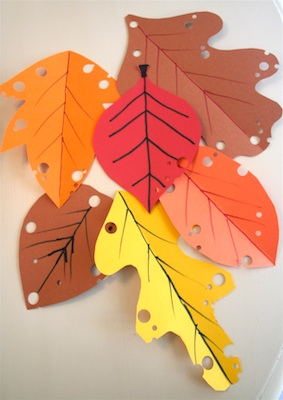 Mmm Crafts simple fall leaves