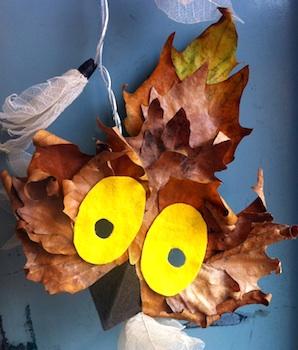 Made In Me owl leaf mask
