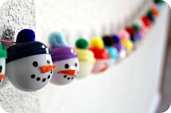 homemade advent calendar snowman advent garland