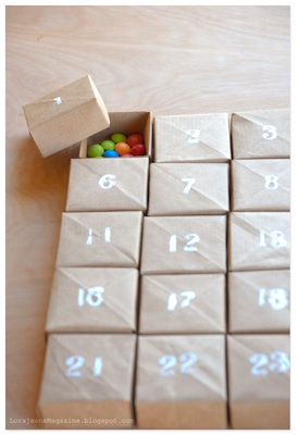 homemade advent calendar paper craft box origami