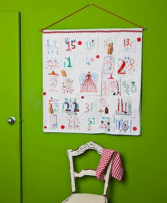 homemade advent calendar child art keepsake advent calendar