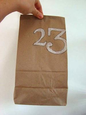 homemade advent calendar paper bag simple craft