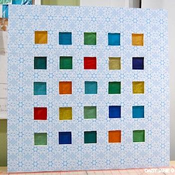 homemade advent calendar punch window advent