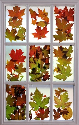 The Artful Parent fall leaves stained glass