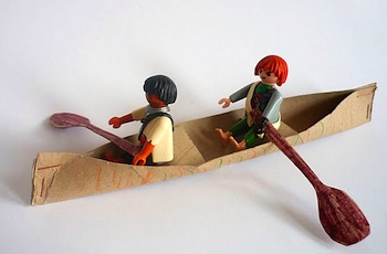 Domestic Candy paper tube canoe