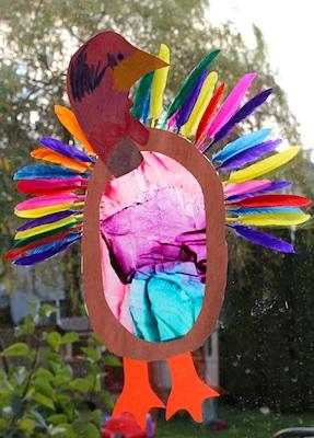 thanksgiving turkey suncatcher craft