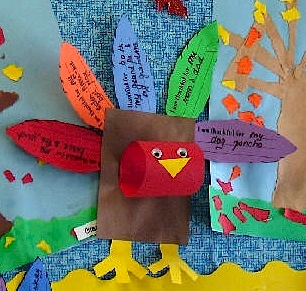 3D thankful turkey craft