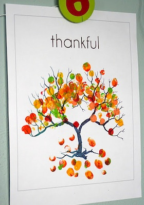 Little Page Turners thankful fingerprint print