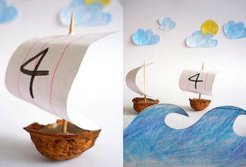 walnut shell boat craft