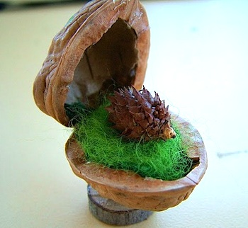 forest friend in a walnut shell craft