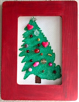 Ordinary Life Magic beaded holiday art