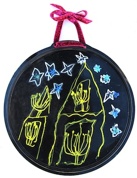 Creative Jewish Mom hanukkah tray
