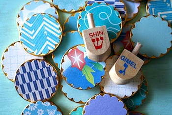 Scrumdilly do hanukkah edible memory game