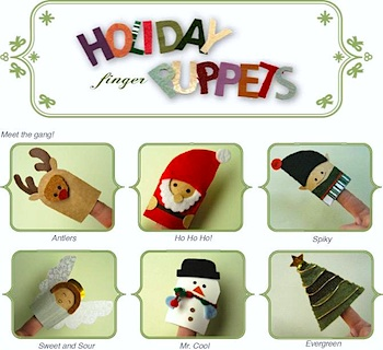 Meyamo christmas finger puppets