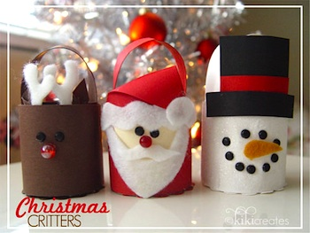 Treat Bucket Christmas Tree Ornaments Things To Make And Do Crafts Activities For Kids The Crafty Crow