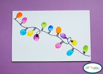 Meet The Dubiens thumbprint christmas lights