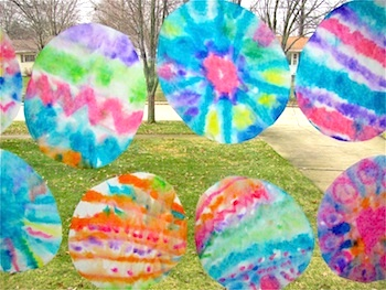 The Chocolate Muffin Tree dyed coffee filter easter eggs