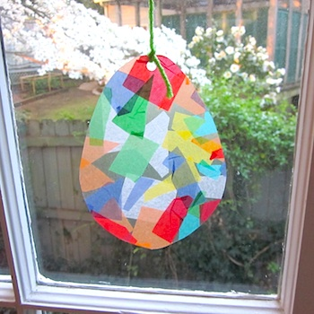 The Green Bird of Happiness easter egg suncatcher