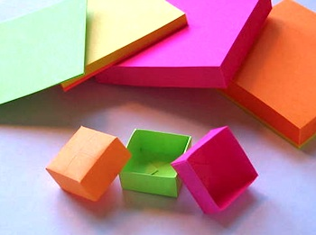 Instructables origami sticky note box