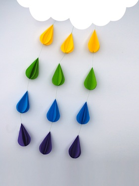 Mini-eco raindrop cloud craft