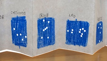 Quince And Quire constellation accordion books