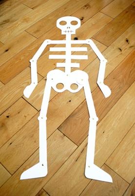 Mini-eco life-sized paper skeleton