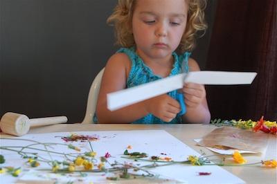 Tinker Lab hammered flowers bookmark 5