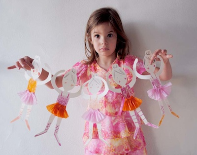 MerMag ballerina paperdoll chain finished