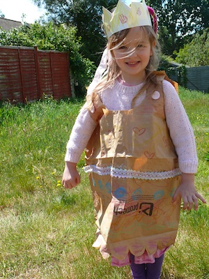 Here We Are Together paper bag princess dress
