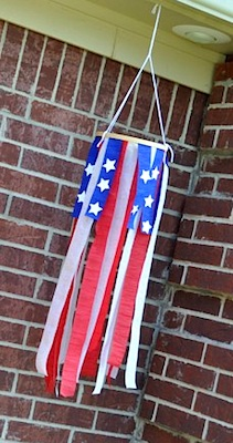 The Mother Huddle 4th of july crepe paper windsock