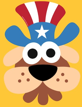 Masketeers doggy uncle sam mask