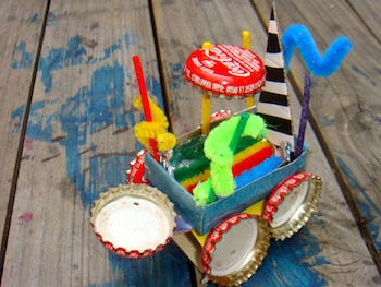recycled craft matchbox vehicles