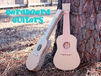 Make It Love It cardboard guitar