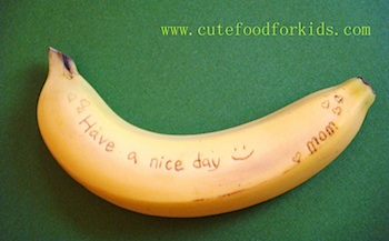 Cute Food For Kids banana message