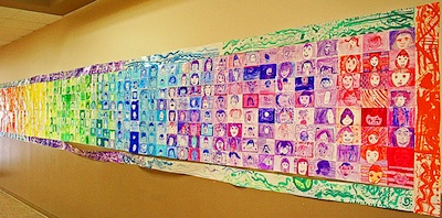 SmART Class back to school portrait mural