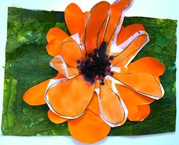 Leon, Pas Sur Les Murs 3 layered flowers